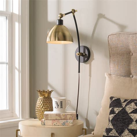 dapper adjustable arm wall sconce shades  light