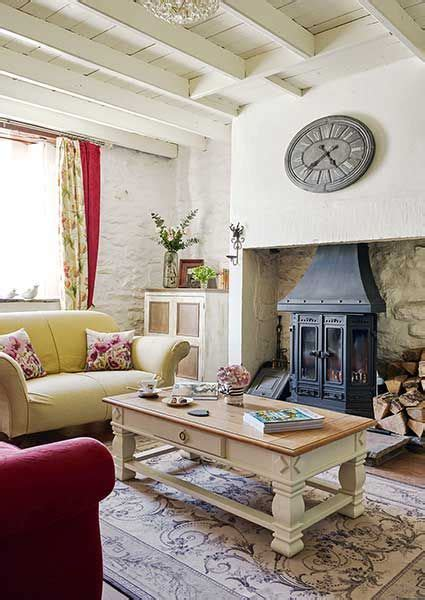 Living Room Ideas Ireland by Cottage Traditional White Living Room With Stove