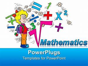 powerpoint template math related symbols and the word With powerpoint templates mathematics free download