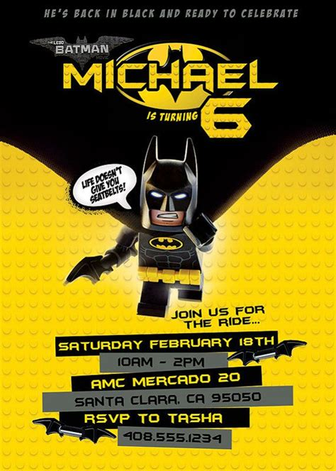 new for 2017 lego batman invitation digital file cumplea 241 os invitaciones