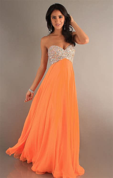 chin length hairstyles  orange prom dresses  give