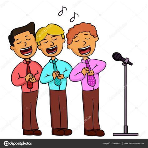 Dibujos: personas cantando Ilustración de dibujos