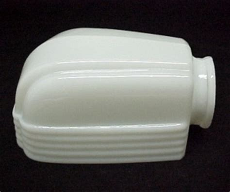 milk glass deco bathroom light shade for wall fixture