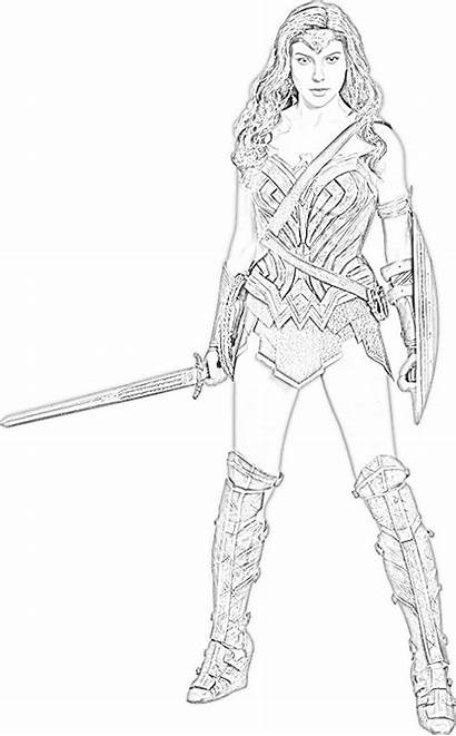 Wonder Coloring Woman Pages Gal Gadot Were