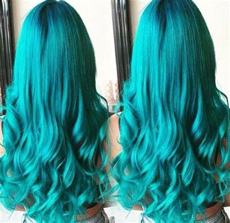 pin  anastasia  hair turquoise hair color turquoise