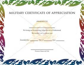 Military Appreciation Certificate Templates