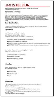 curriculum vitae reference exles cv sle with references myperfectcv
