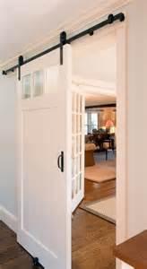interior sliding barn doors for homes sliding interior barn door instead of pocket door block kitchen but allows light home