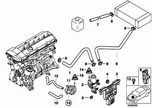 Original Parts For E39 528i M52 Sedan    Heater And Air Conditioning   Water Valve Water Hose
