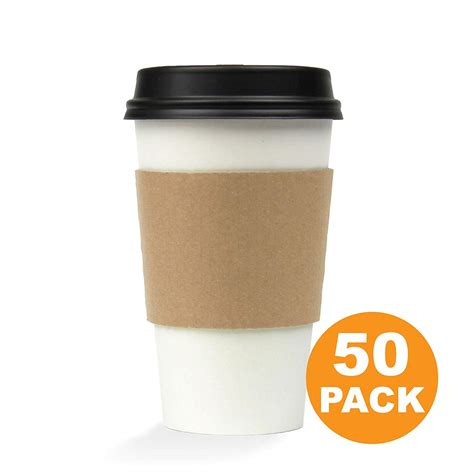 Foam cups with lids found in: 16 OZ Hot Beverage Disposable Paper Coffee Cup with Lid and Sleeve Combo, White Black Kraft ...