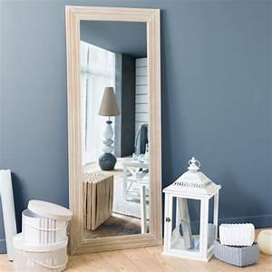 miroir en bois de paulownia h 145 cm campagne maisons du With miroir maisons du monde