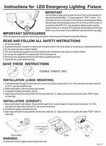 Instructions For Led Emergency Lighting Fixture