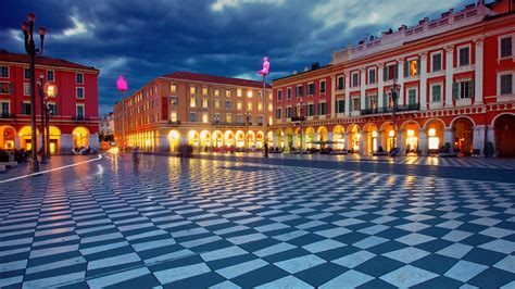 Place Massena main square in Nice, France wallpaper - backiee