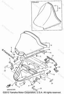 Yamaha Snowmobile 1995 Oem Parts Diagram For Windshield