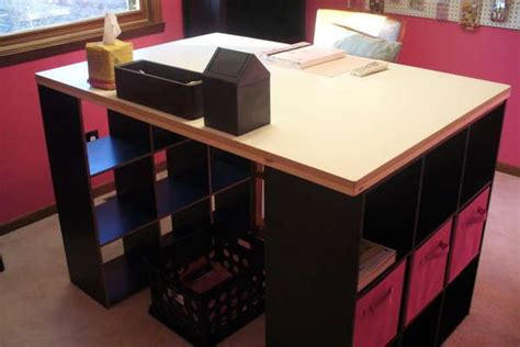 desk with storage cubes 17 best images about storage cube ideas on