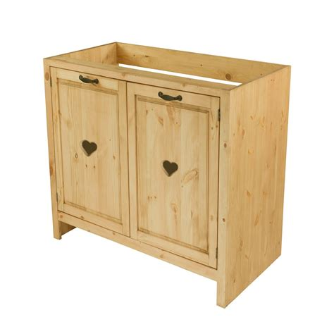 caisson sous evier cuisine meuble sous évier cuisine pin massif 80 cm avec coeur