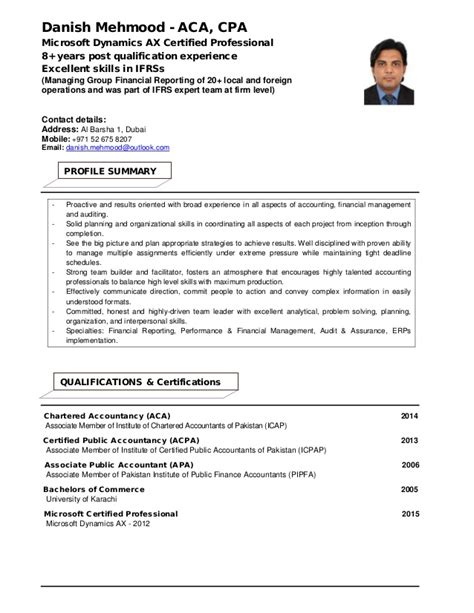 Microsoft Dynamics Ax Sle Resume by My Resume