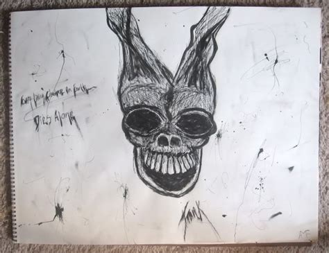 donnie darko fan art  drawing drawing  cut