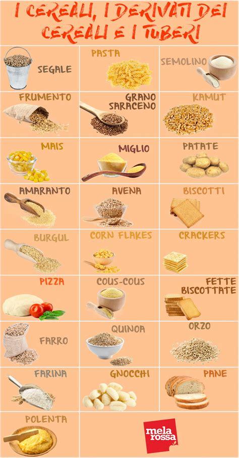 alimenti da dieta sostituzioni dei cibi a dieta cereali derivati e tuberi