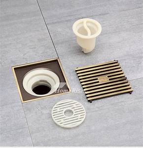 Qst 50 Automatic Sealing Brushed Antique Brass Square