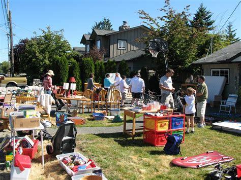 Backyard Sales by Crown Hill Neighborhood Yard Sale Tomorrow My Ballard