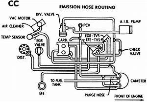 Chevy Small Block V8 Vacuum Hose Diagram