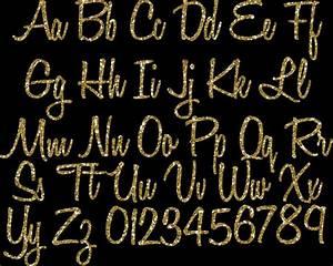 gold glitter alphabet clipart glitter alphabet clip art With gold cursive letters