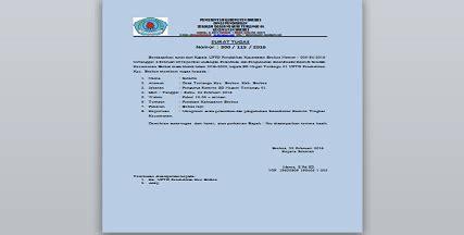 contoh surat keputusan tugas komite sekolah tahun