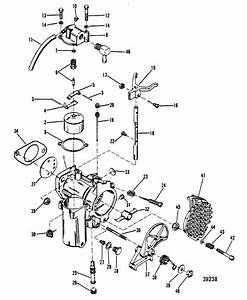 Mercury Marine 40 Hp  2 Cylinder  Carburetor Assembly Parts