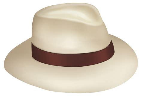 Panama Sun Hat With Brown Ribbon PNG Clipart - Best WEB