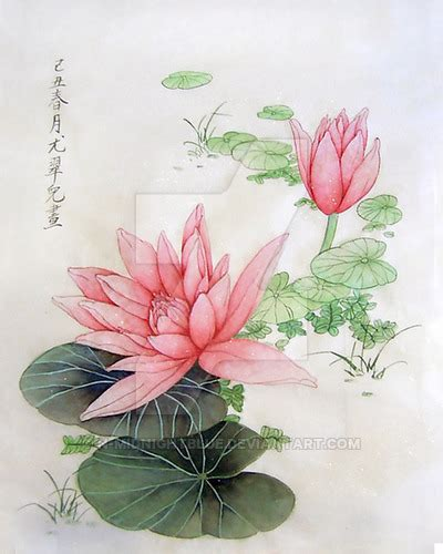 Chinese Painting Lotus By Nmidnightblue On Deviantart
