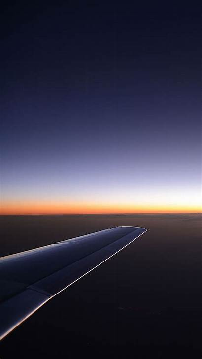 Android Samsung Airplane Wing Sunset Wallpapers Nature