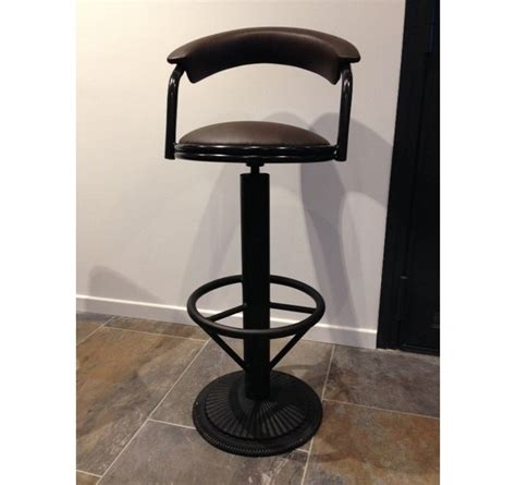 industrial barstool with backrest