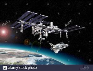 International Space Station (ISS) in orbit around Earth ...
