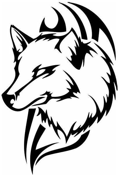 Clipart Tribal Wolf Animal Animals Sticker Decal