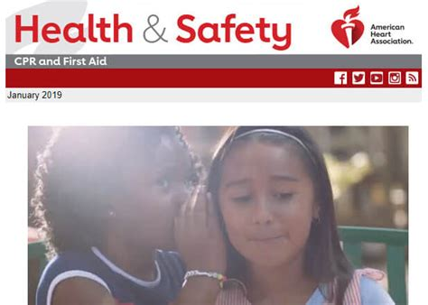 We want to help you live healthier! Health & Safety Newsletter   American Heart Association ...