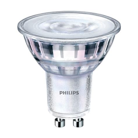 philips led gu10 dimmable warm glow glass l 5 5w warm