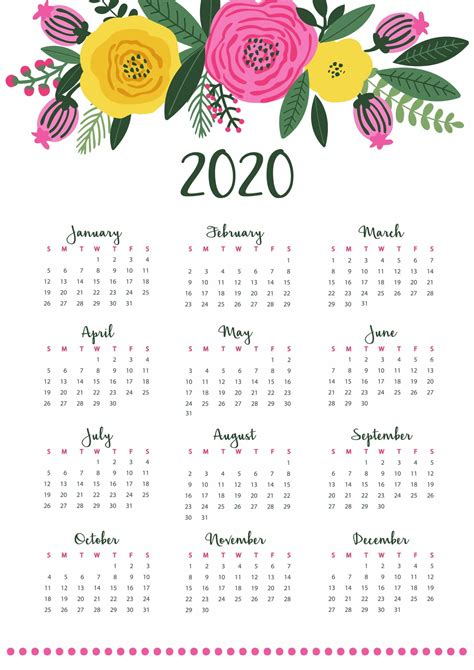 yearly calendar  notes    calendars