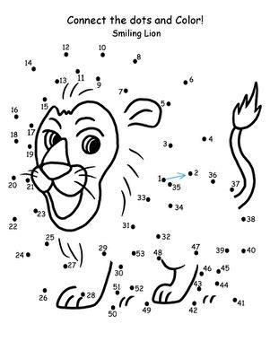 connect the dots lion worksheet education com