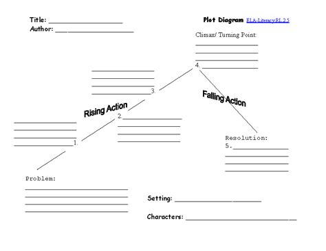 18 best images of story plot worksheets story element