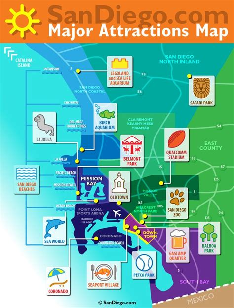 san diego tourist bureau 36 best images about on the map on