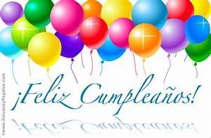 Feliz Cumpleaños con globos Cumpleaños, tarjetas
