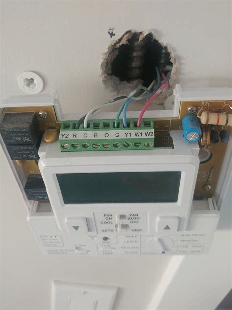 wiring placement honeywell thermostat tech support forum