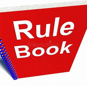 Rule Book Policy Guide Manual Stock Illustration
