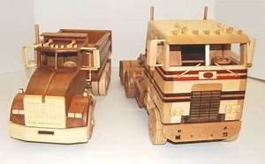 Craftmen: Wooden toy car and truck plans