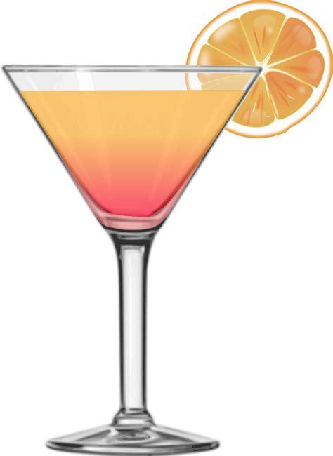 Clipart  Tequila Sunrise Cocktail 2