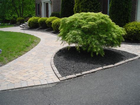 landscape sidewalk ideas sidewalk ideas beautifully landscaped formal entrance mulched bed with landscape front