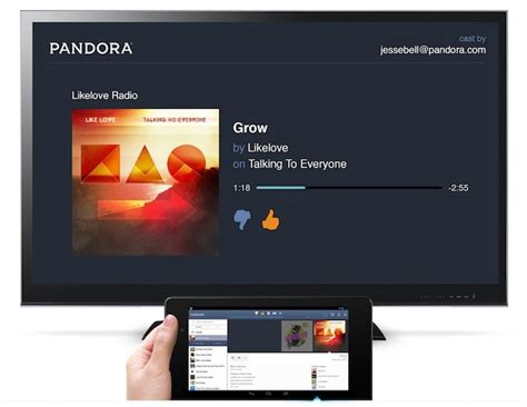 pandora android pandora android app update brings chromecast support