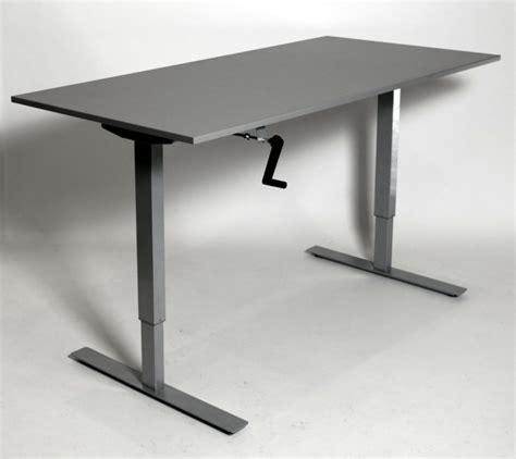 bureau reglable en hauteur pour bureau réglable en hauteur mécanique à manivelle lor