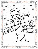 Coloring Pole North Santa Pages Printable Northpole Games Activities sketch template